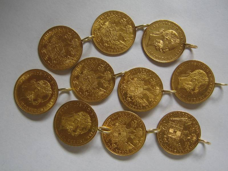 Austrian ducats as pendants