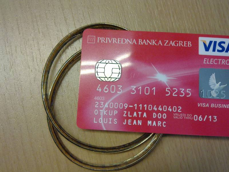 VISA card for my gold buying company in Croatia