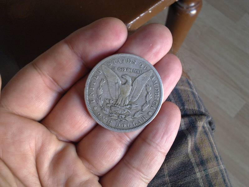 This is one silver dollar of U.S.A. from 1901