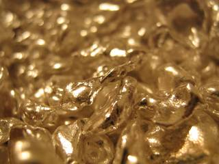 Close up of silver flake