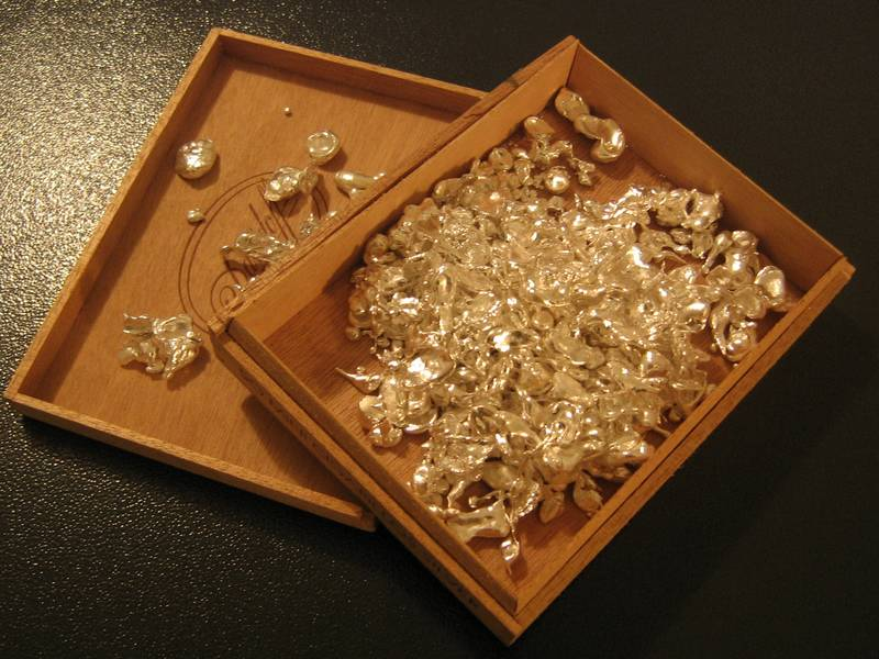 Refined silver flakes