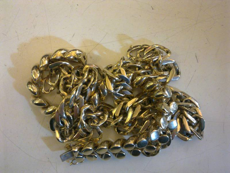 Scrap gold necklace