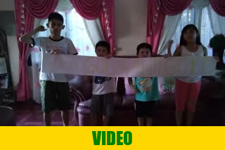 Greetings from Philippines by children of Mr. Sandy Orencia