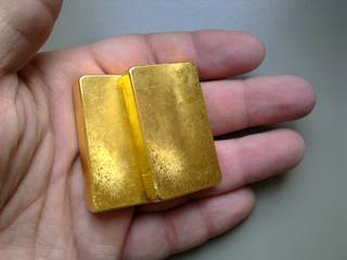 Gold ingots and bars