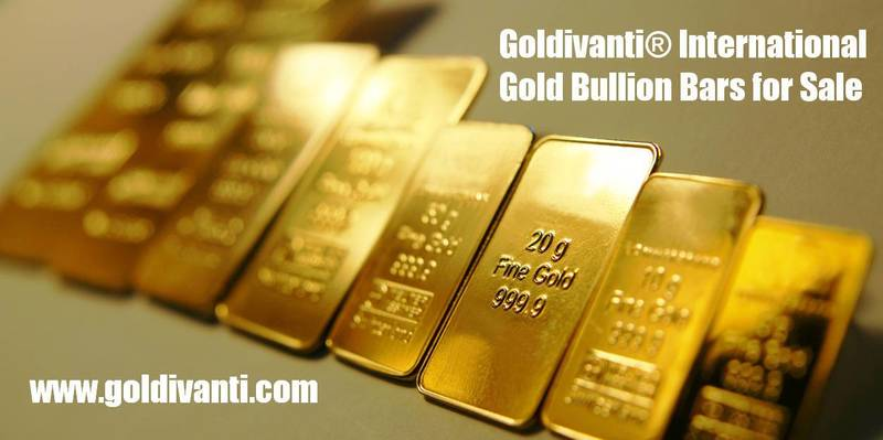 Goldivanti International Gold Bullion Bars for sale