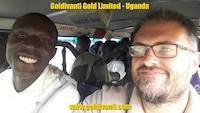 Staff members in Uganda moving for gold prospecting