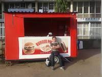 Purger waits for the burger