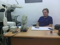 Robert Stažnik in our office in Mwanza, Tanzania