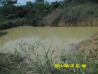 A dam at a site in Ghana - Goldivanti Mining Research in Ghana 2014