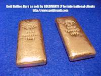 Oegussa 250 grams gold bars of fine gold