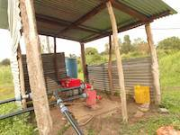 Water pump on gold cyanidation plant