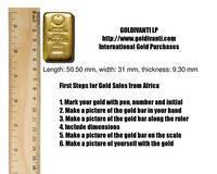 First Steps for Purchase of Gold from Africa