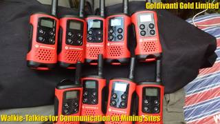 Walkie-Talkies for Communication on Mining Sites in Uganda